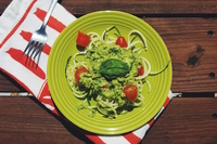 Zoodles with avocado sauce