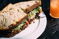 Vegetarian chickpea sandwiches
