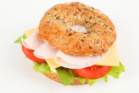 Chicken club bagel sandwich