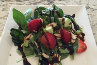 Strawberry apple spinach salad